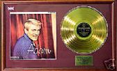 ADAM FAITH  24 Carat  Gold disc & cover presentation- 'ADAM'